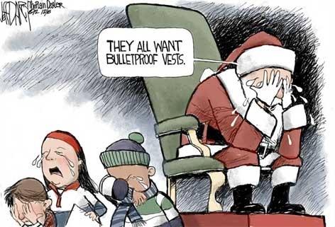 Santa Cries Gun Violence