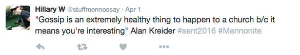 Alan Kreider Gossip